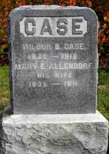 Mary Allendorph Case Headstone 2020