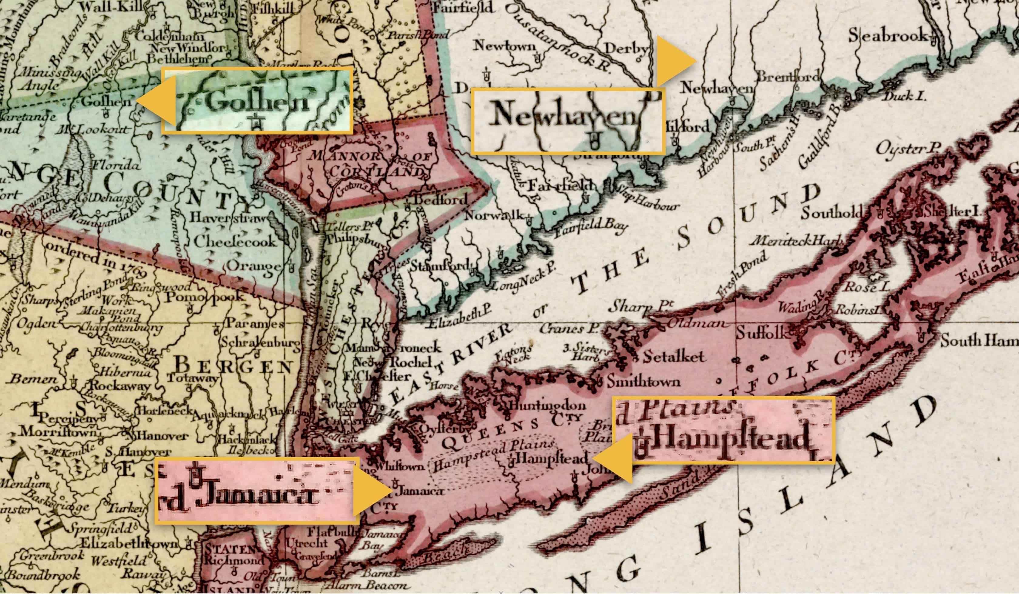 1777 Regional Map