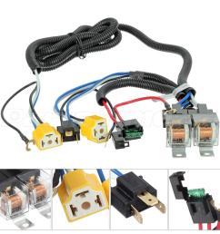 headlight headlamp h4 light bulb relay wiring harness socket plug set [ 1200 x 1200 Pixel ]