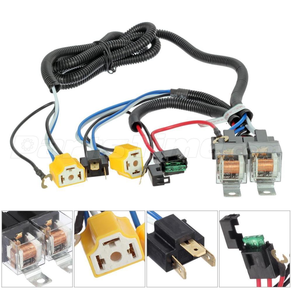 medium resolution of headlight headlamp h4 light bulb relay wiring harness socket plug set