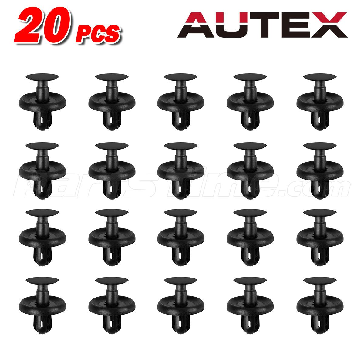20pcs Bumper Fender Hood Plastic Retainer Push Rivet For