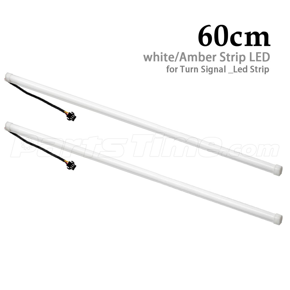 2pcs 60cm Switchback Flexible Tube Led Strip Drl Daytime