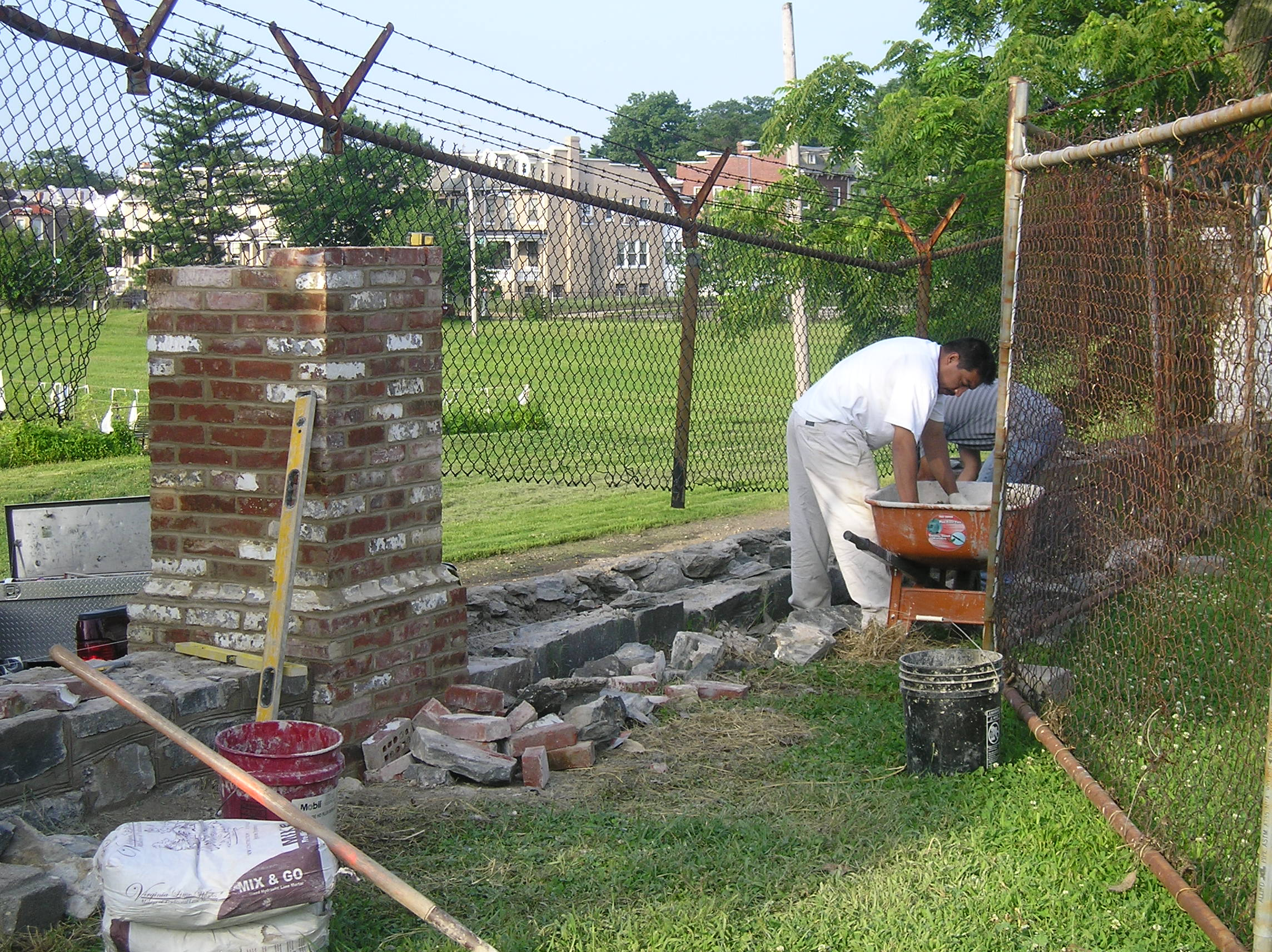 Old Soldiers' Home fence repair
