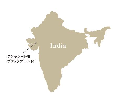 インドコットン産地地図イラスト