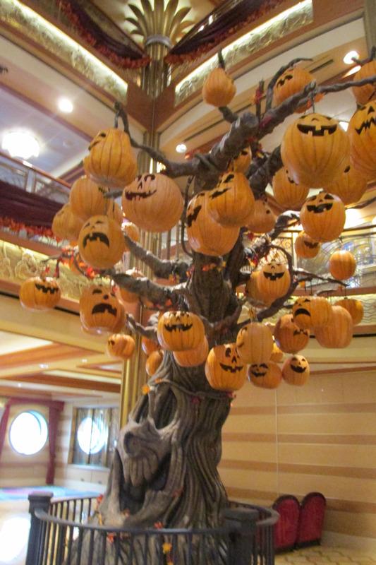 Halloween on the High Seas cruise decor on the Disney Dream