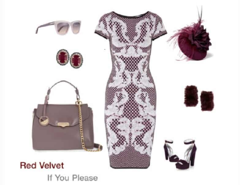 Red Velvet Polyvore collage by DC Life magazine