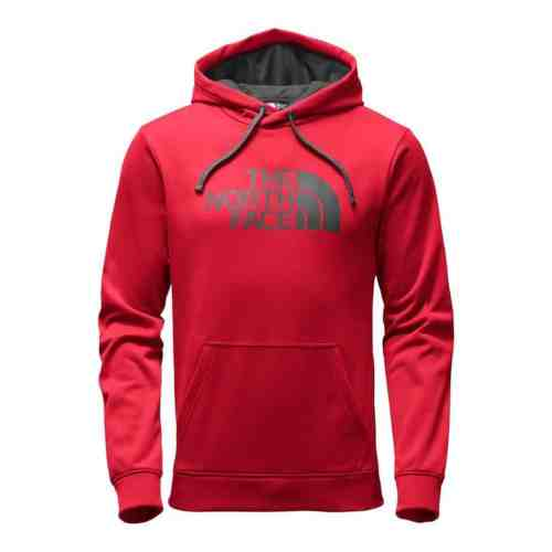 red The North Face hoodie