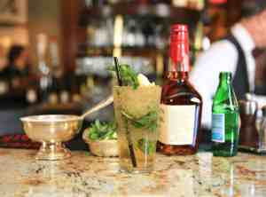 A mint julep at the Round Robin Bar at the Willard Intercontinental Hotel