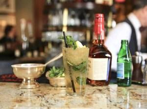 A mint julep at the Round Robin Bar at the Willard Intercontinental Hotel
