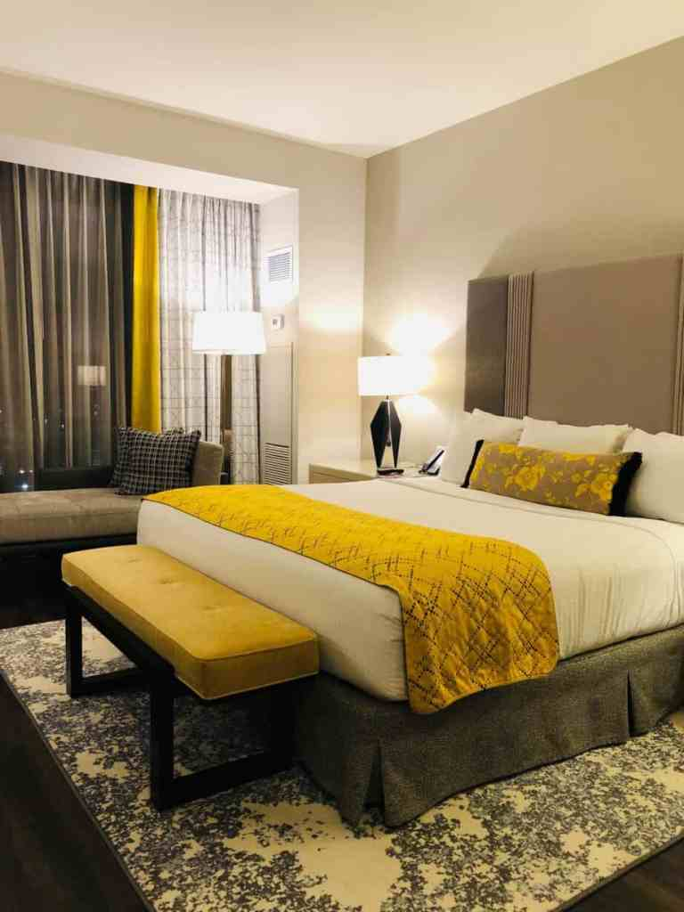 deluxe king room at Live! Casino & Hotel