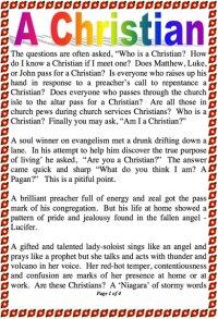 A Christian