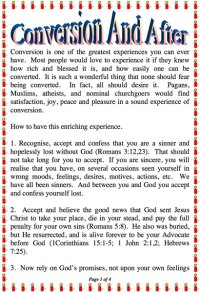 Conversion and After