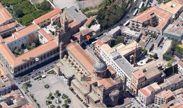 Localizzazione della Cappella dell'Incoronazione. Fonte: Google Maps.