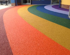 Wet Pour Rubber Crumb Playground Safety Surfacing
