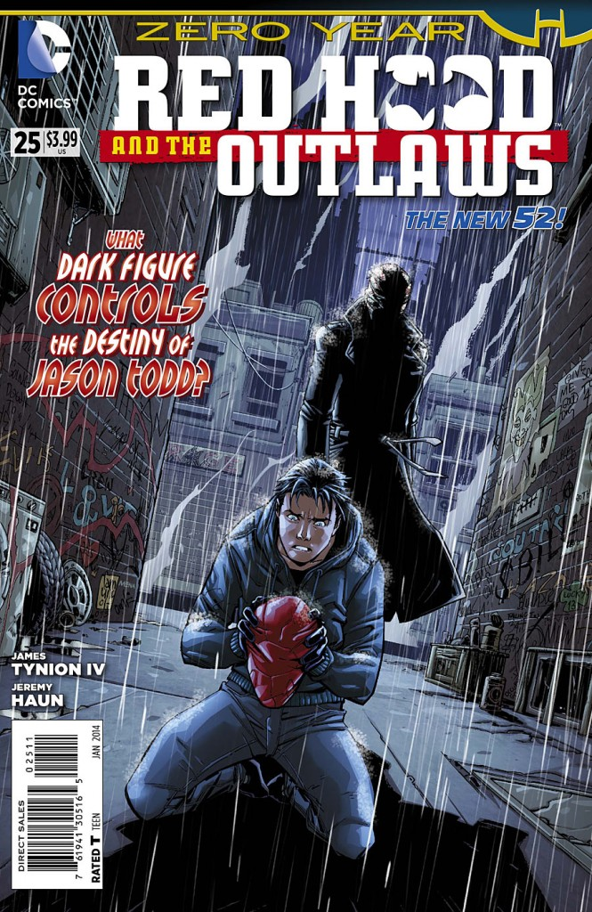 Cover to Red Hood and the Outlaws #25.