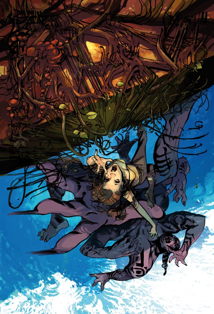 Cover to Hinterkind #2 by Greg Tocchini.