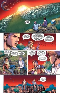 GREEN LANTERN #34 - Hal and Jim Jordan share Khundish ale