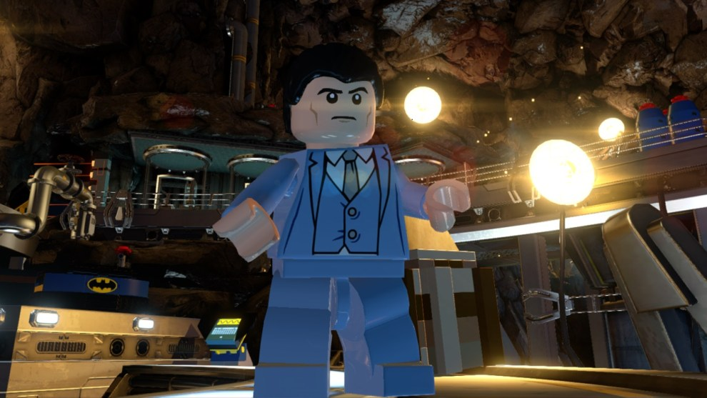 Bruce Wayne voiced by Troy Baker