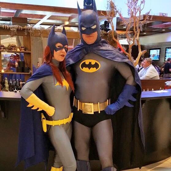 Batgirl and Batman