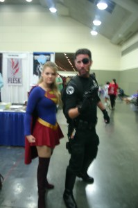 Supergirl and Nick Fury