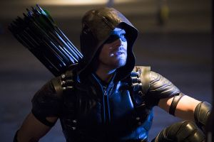 "Arrow -- ""Legends of Yesterday"" -- Image AR408B_0314b.jpg --  Pictured: Stephen Amell as The Arrow -- Photo: Katie Yu/ The CW -- © 2015 The CW Network, LLC. All Rights Reserved."