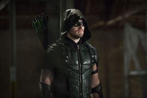 "Arrow -- ""Legends of Yesterday"" -- Image AR408B_0254b.jpg --  Pictured: Stephen Amell as The Arrow -- Photo: Katie Yu/ The CW -- © 2015 The CW Network, LLC. All Rights Reserved."