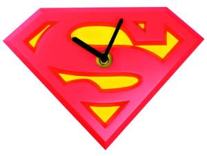 SUPERMAN LOGO WOBBLE CLOCK