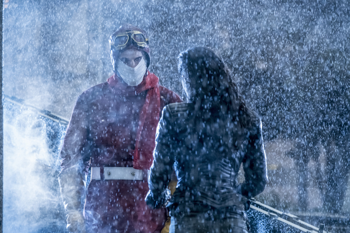 """The Flash -- """"Attack on Central City"""" -- FLA314a_0039b.jpg -- Pictured (L-R): Sean Poague as Accelerated Man and Jessica Camacho as Gypsy -- Photo: Katie Yu/The CW -- © 2017 The CW Network, LLC. All rights reserved."""