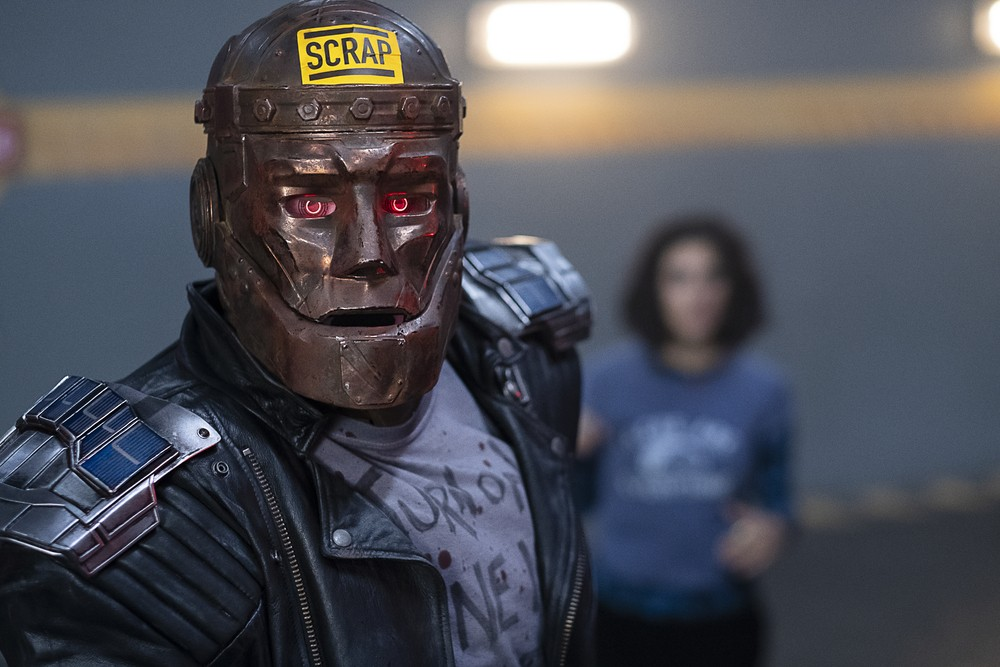 Robotman gets ready for some action