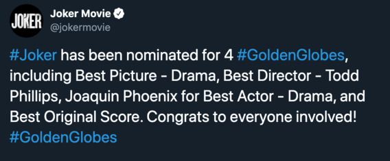 Joker golden globes