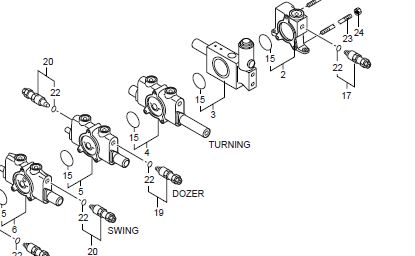 Excavator Hydraulic Control Valve Log Splitter Hydraulic