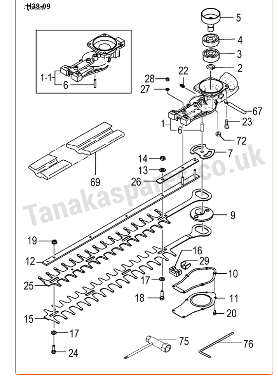 Tanaka hedge trimmer weird blade shuddering problem