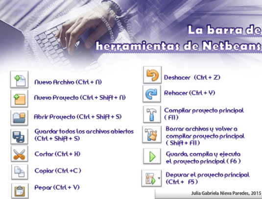dCodnGames - La barra de herramientas de Netbeans