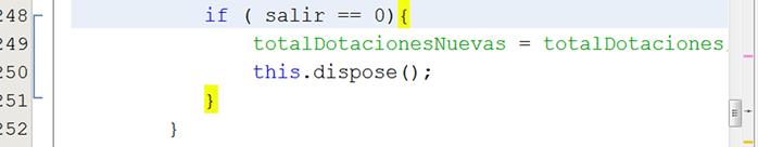 dCodinGames - Ejemplo de la característica detección de llaves de Netbeans