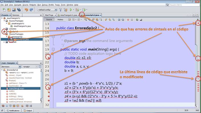 dCodinGames - Formas en la que Netbeans detecta los errores de sintaxis