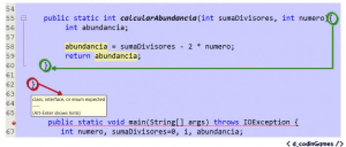 """Error """"Se esperabla class, interface o enum"""""""