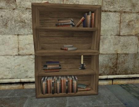 Etagère d'intellectuel en bois tordu