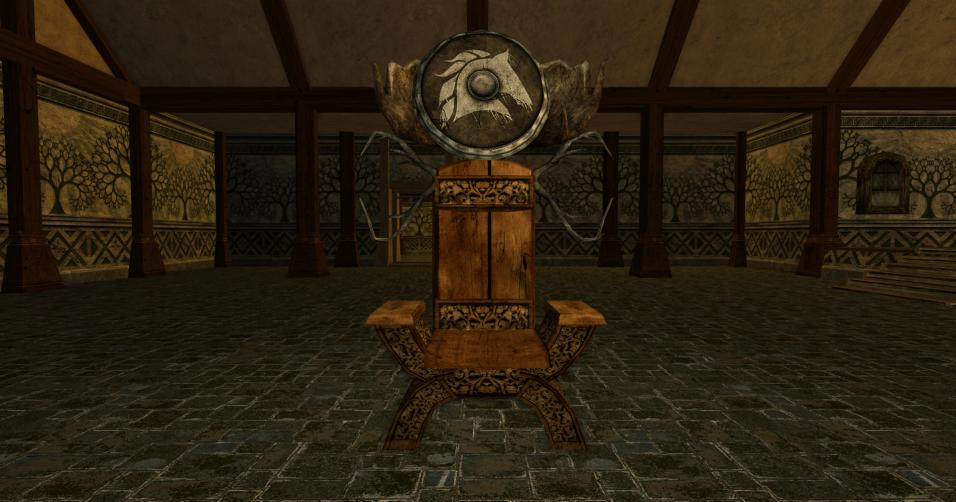 chaise et bouclier des R