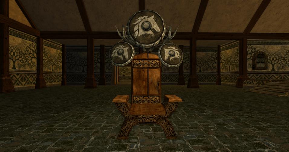 chaise et grand bouclier des R