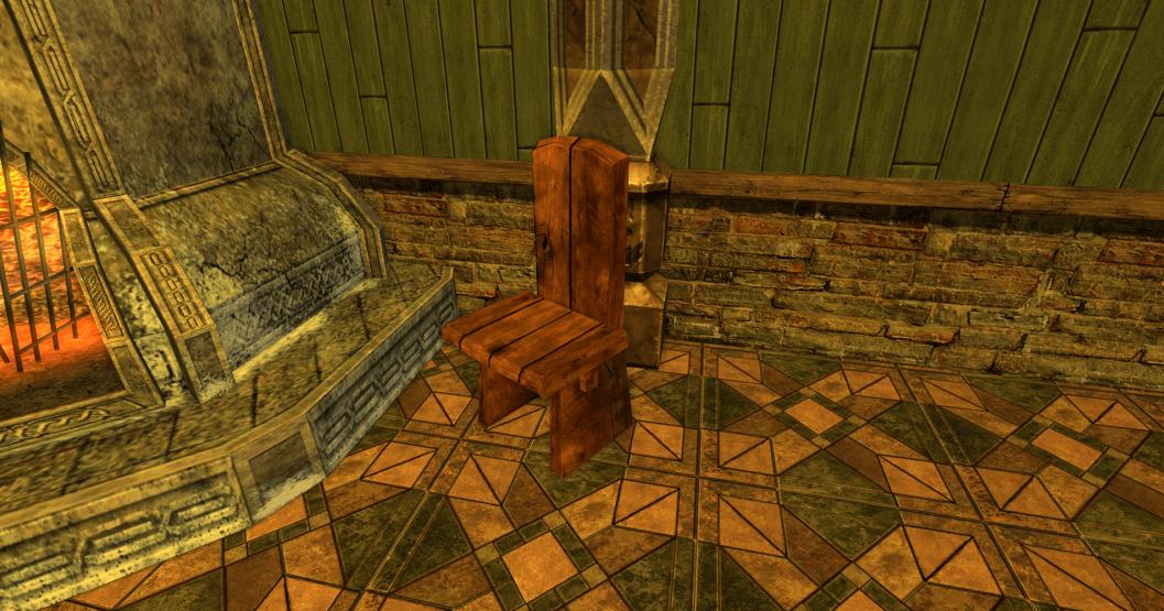chaise sobre des R