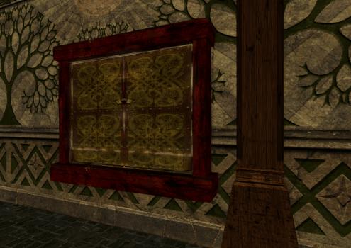 Fenêtre à double battant et volets fantaisie des Rohirrim