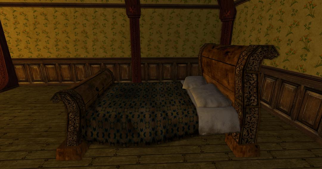 lit à baldaquin cossu des R3