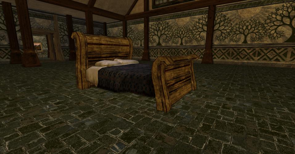 lit à baldaquin grossier des r2