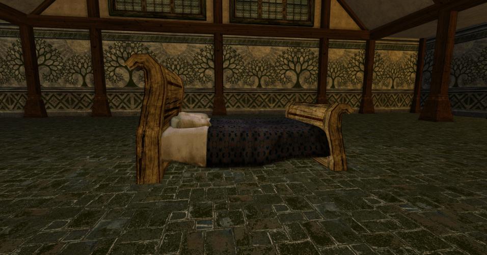 lit à baldaquin grossier des r4