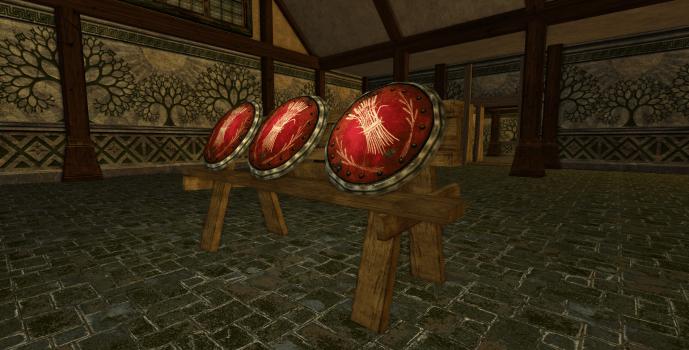 Râtelier de boucliers des Sutcrofts