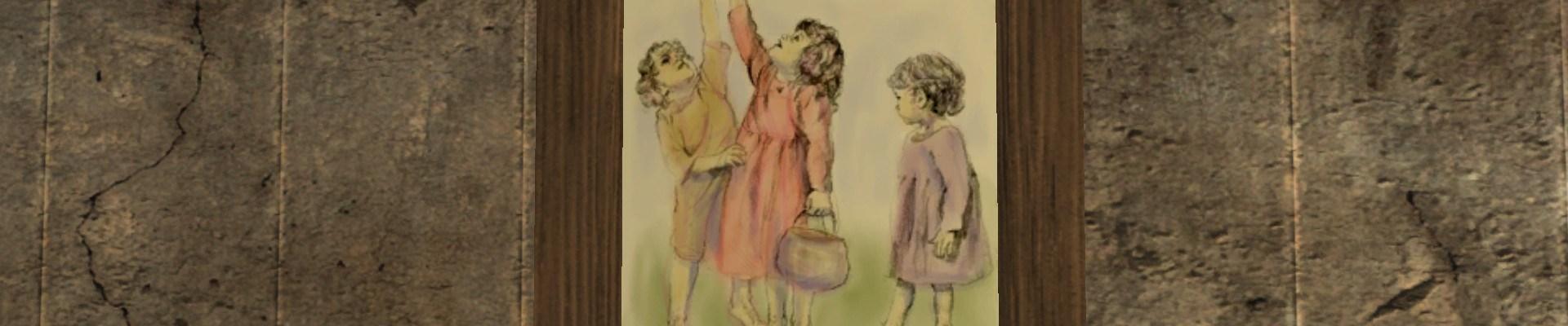 Tableau: Enfants Jouant