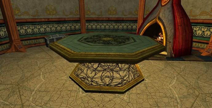 Table de la Lorien décorée