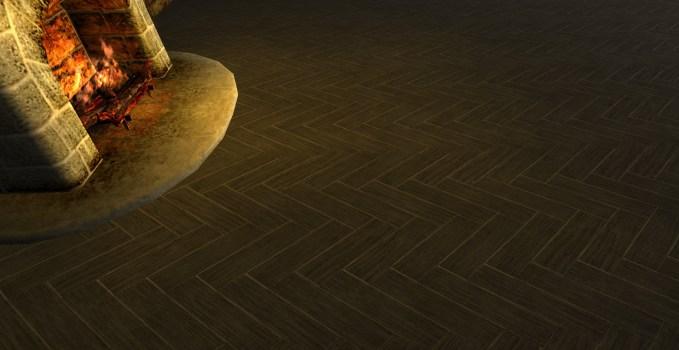 Plancher en Lattes de Bois Imbriquées