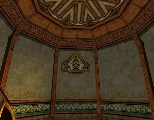 Mur elfique en plâtre détaillé