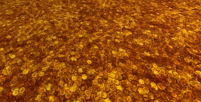 Sol constitué de pièces